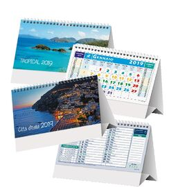 Stampa calendari e agende online 2019 personalizzati agm - Calendari da tavolo personalizzati ...