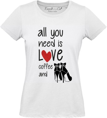 T-shirt All you need is love and coffee