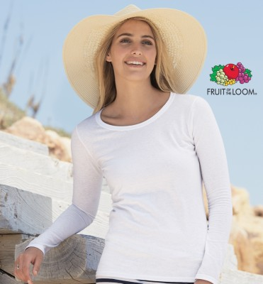 T-shirt Fruit Lady Fit Manica Lunga