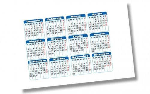 Biglietti da visita con calendario Calendovisita - 018
