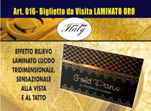 Biglietti da Visita Lamina Oro a rilievo - 016