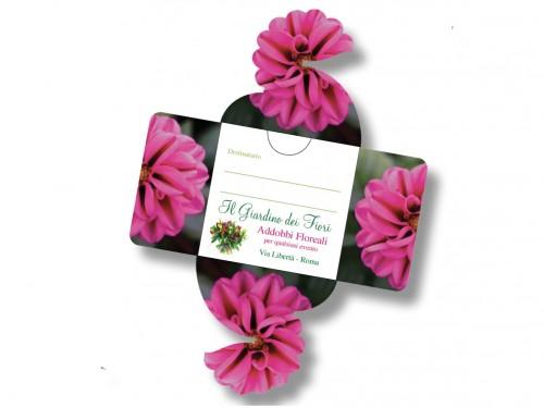 Biglietti da Visita fiore Meraviglia fustellato - 014