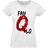 T-shirt Fan Q Lo Glitter Rosso
