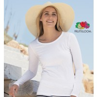 T-shirt Fruit Lady Fit Manica Lunga